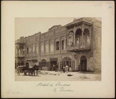 Hotel de Londres in old Yerevan, Armenia (before 1894, photographer – A.H.P. Hotz)