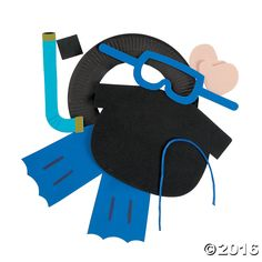Paper Plate Scuba Diver Picture Frame Craft Kit. Dive in to a crafting…