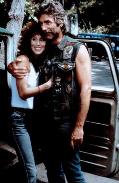 Cher and Sam Elliot in Mask - tough job working with him!!