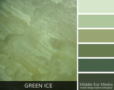 The Green Ice Color Palette captures the essence of light shining through the ice wall at the Eben Ice Caves.