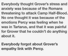 Poor Grover... it must have been so hard for him...