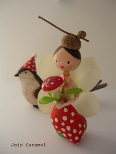 Clothespin doll by Jojo Caramel