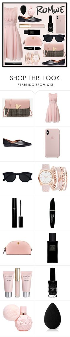 """""""ROMWE 1"""" by ddupas ❤ liked on Polyvore featuring Phase Eight, Pierre Hardy, Le Specs, A.X.N.Y., Max Factor, Tory Burch, Yves Saint Laurent, By Terry, Azature and beautyblender"""