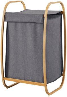 IDIMEX W/äschesammler W/äschesack Laundry in dunkelblau mit Aufdruck und Tragegriffen