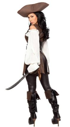 Prom Dress Costumes Pirate Costume Party Costume Cosplay Masquerade (woman, #13) - Click image twice for more info - See a larger selection womens  pirate costume at  http://costumeriver.com/product-category/womens-pirate-costume/ - womens, holiday costume , event costume , halloween costume, cosplay costume, classic costume, scary costume, pirate, classic costume, clothing