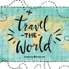 World water color Free vector - Background Pic Box - Travel Posters, Travel Quotes, Travel Icon, Travel Drawing, Travel Wallpaper, Travel Illustration, Word Design, Travel Scrapbook, Travel Around The World