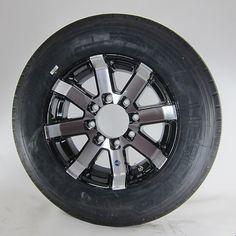 Kenda Karrier ST215//75R14 LRC Trailer Tire /& Aluminum Wheel Series 07 Black