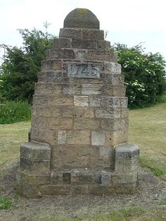The Battle of Prestonpans Memorial Cairn. 21 September 1745. Prestonpans, East Lothian, Scotland.