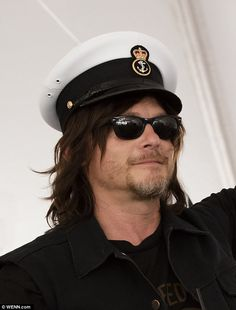 Known for fighting back hoards of the undead on AMC's The Walking Dead, Reedus seemed equally at home in a sailor's hat