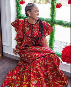 Ankara Long Gown Styles, Short African Dresses, Latest African Fashion Dresses, African Print Dresses, African Print Fashion, Ankara Styles, African Attire, Foto E Video, Fashion Hacks