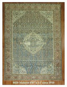 "Malayer  Rug Number: 8820 Size: 8'6"" x 11'    Rugs R Us Online,"