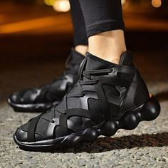 - Mens cool wrapped look basketball shoes for the stylish men - Unique design offers a cool edgy look - Great for a casual day out or special occasion - Made from high quality material - Available in 3 colors