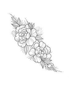 Tattoo sketch by Cathy Ma.artwork - Tattoo sketch by Cathy Ma.artwork Tattoo sketch by Cathy Ma. Body Art Tattoos, Sleeve Tattoos, Cool Tattoos, Female Tattoos, Stomach Tattoos, Flower Wrist Tattoos, Flower Tattoo Designs, Carnation Flower Tattoo, Tattoo Floral