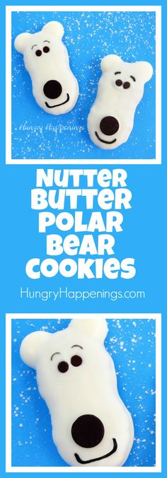 Transform a plain store bought cookie into a festive little treat! Make these Nutter Butter Polar Bear Cookies and your guests will be growling for you to..