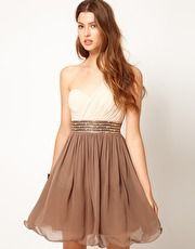 Little Mistress | Little Mistress Embellished Waist One Shoulder Dress at ASOS