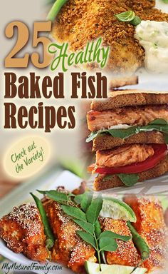25 Healthy Baked Fish Recipes... soooo needed this to get more fish into our dinner routine!