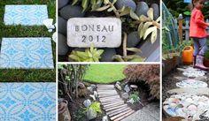 12 inspirací na zahradní cestičky a okrasné kameny