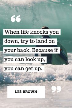 When life knocks you down #success