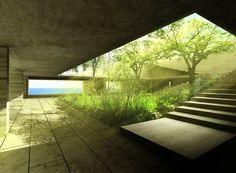Courtyard at Casa Vera Minimal Architecture, Green Architecture, Amazing Architecture, Landscape Architecture, Landscape Design, Architecture Design, Design Patio, Exterior Design, Interior And Exterior