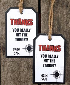 Printable Laser Tag thank you