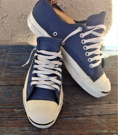 0e456f060104 Vintage made in usa jack purcell converse blue canvas sneakers athletic  shoes 7m