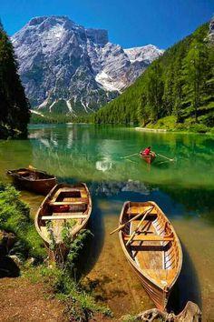 Pragser Wildsee in South Tirol Italy