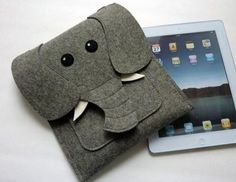 Your Gadgets Never Felt So Good | Felt Tech Case: Elephant iPad Cover