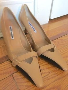 Manolo Blahnik Size 42 Two Tone Shoes US Size 10 Excellent condition, Tan Black | eBay