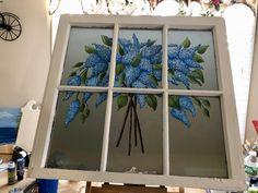 Old Windows Painted, Antique Windows, Vintage Windows, Paint Sealers, Painted Mailboxes, Vintage Mirrors, Mirror Effect, Window Mirror, Lilacs