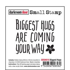 """Darkroom Door rubber stamps are mounted on cling foam. Suitable for card making, art journals, mixed media and more! Darkroom Door rubber stamps are known for their durability, deep etching and high image detail. Size: 60mm x 55mm (2.4"""" x 2.2""""). Virtual Hug, French Script, Foam Adhesive, Card Making Supplies, Big Hugs, Distress Ink, Clear Stamps, Clear Acrylic, Art Journals"""