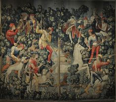 The Unicorn at Bay - Hunt of the Unicorn Tapestries