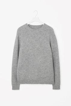 COS image 2 of Structured knit jumper in Grey
