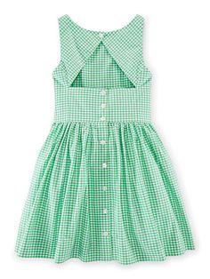 Gingham Cotton Dress - Girls 7-16 Dresses