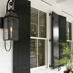 Love shutters. Especially ones that you can actually use!