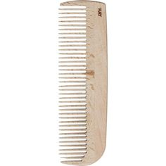 HAY Waxed-beechwood large comb ($19) ❤ liked on Polyvore featuring fillers, beauty, hair, accessories, extras, detail, embellishment and magazine