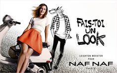Leighton Meester Stars in Illustrated Naf Naf Spring 2014 Campaign