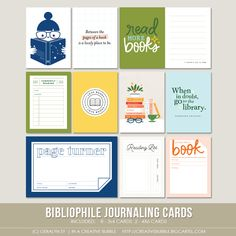 Image of Bibliophile Journaling Cards (Digital)