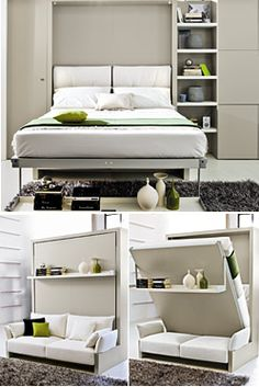 Freestanding Nuovoliola Queen Wall Beds - great if you're renting