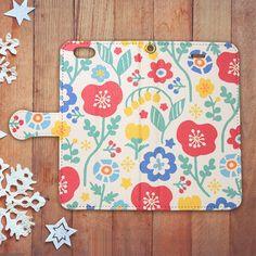 【手帳型S/Msize】Flowers多機種対応スマホケース | Wach Works