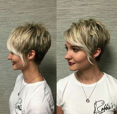 Funky short pixie haircut with long bangs ideas 88