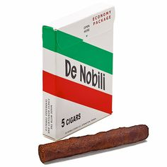 "De Nobili cigars - referred to when I was young as ""guinea ropes"", these are actually made in Scranton, PA! Once in a while, I like these little dry-cured cigars with a mellow, medium-bodied blend of 100% dark-fire-cured Kentucky and Tennessee tobaccos. Try 'em!"