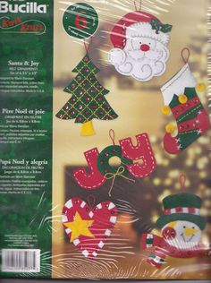 Bucilla 'Santa and Joy' Felt Christmas Ornament Kit $10.99