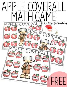 Johnny Appleseed Apple Coverall Games.  Three versions of the coverall games are included!  Perfect for fall math stations!