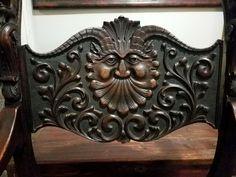 Renaissance Revival Quartersawn Oak North Wind Face Throne Savonarola Chair | eBay 49ers Images, Renaissance, I Coming Home, Girls Time, Photo Blue, Boho Diy, Fantasy Places, Ebay, Recipes