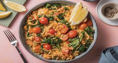 We present our risoni risotto. Minimal stirring, loads of comforting ooziness and superbly satisfying. Risoni Recipes, Orzo Recipes, Spinach Risotto, Hello Fresh Recipes, Chorizo, Cherry Tomatoes, Food To Make, Delish, Meals