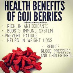 Goji berries promote longevity and calm the nervous system! #gajiberries #berries #benefits #health #healthy
