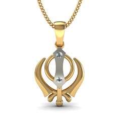 http://www.bluestone.com/pendants/the-warrior-pendant~554.html  Celebrate Sikhism with this delicately crafted Khalsa pendant. An iconic representation of the Sikh warriors, this pendant pays respect to centuries of tradition of bravery.