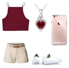 """""""Untitled #176"""" by xolafkax on Polyvore featuring LE3NO, Converse and Miadora"""