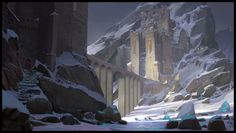 Fantasy enviro painting I did while taking painting class at CGMA. Fantasy City, Fantasy Castle, Fantasy Places, High Fantasy, Fantasy Rpg, Medieval Fantasy, Fantasy Artwork, Fantasy World, Environment Concept Art