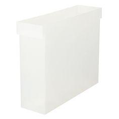ポリプロピレンファイルボックス・A4用 約幅10×奥行35.4×高さ26cm | 無印良品ネットストア